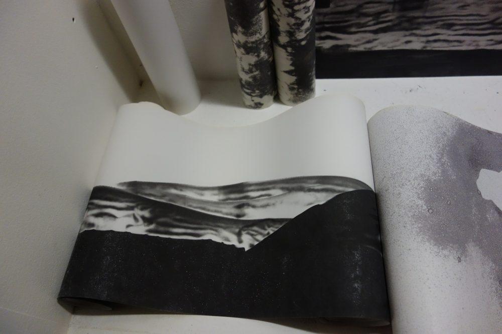 thermal paper,papier thermique, papier fax, tickets de caisse, art plastique, dessin, peinture,