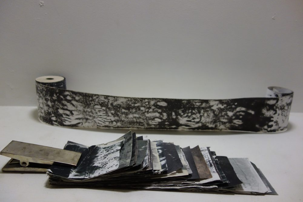 papier thermique, thermal paper, 感熱紙の芸術